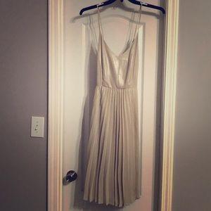 Lauren Conrad pleated champagne dress